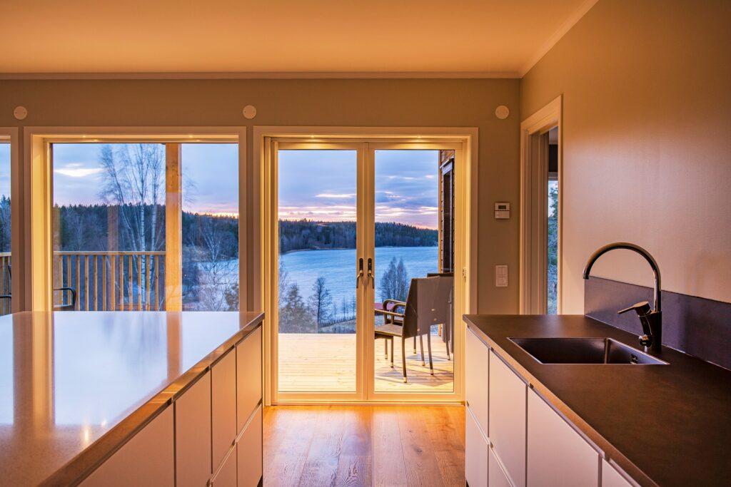Kök med makalös utsikt.
