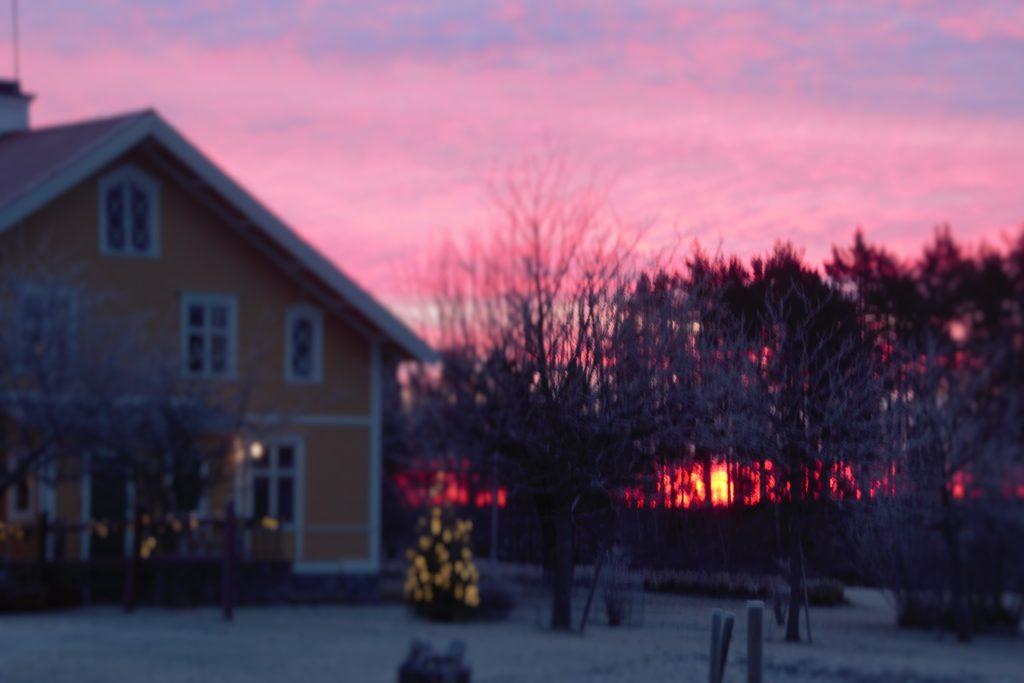 Soluppgång vid Hökärr 5 december 2017.